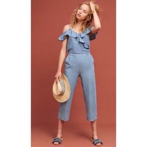 Anthropologie Michael Stars Chambray Jumpsuit
